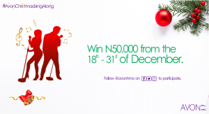 Win N50, 000 in #AvonChristmasSingAlong