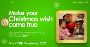 Win fantastic prizes in the #AvonChristmasGift promo